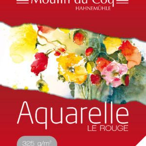 Moulin du coq Le Rouge Papier aquarelle 325 grs grain fin.