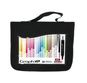 Graph'it Trousse de 24 marqueurs à alcool-Basic colours