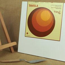 Tavola Gesso. Support en bouleau. Epaisseur 4 cm. Format carré.