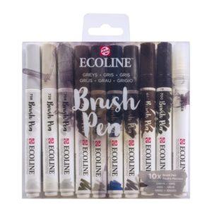 Ecoline  Set de 10 brush pen tons gris .