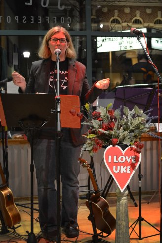 Marla draws parallels between ukuleles and love: It doesn't matter if you aren't good at it. Just do it!