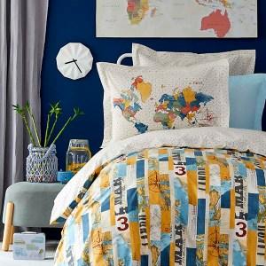 Комплект подросткового постельного белья KARACA HOME Farte Mavi
