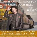 Get ready to LOL with acclaimed comedian Rich Hall on July 15, 2017