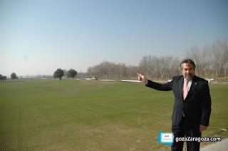 Juan Alberto Belloch, alcalde de Zaragoza, en la presentación del Parque