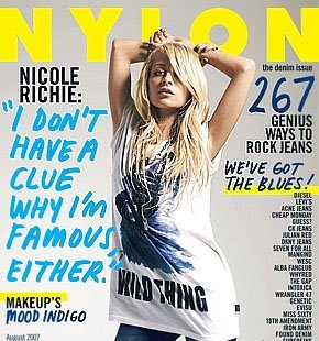 Nicole Richie for Nylon Magazine - August 2007