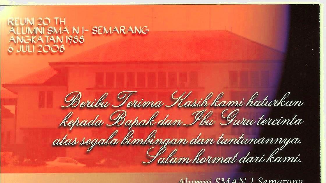 Alumni Smansa 1988 Semarang Kartu Ucapan Utk Bingkisan Guru Guru