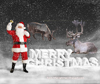 santa claus is coming to town, free Christmas template photoshop, snowing, reindeer, snow text effects, holidays, wallpaper, poster, new year, 2008, happy merry