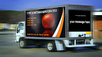 car van auto media advertising template psd photoshop edit sides panel move motion blur text