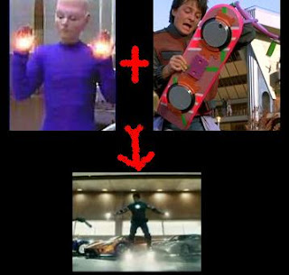 Iron Man can fly thanks to the Taelonf of Earth Final Conflict and thanks to  Michael J. Fox from Back to the future 2!