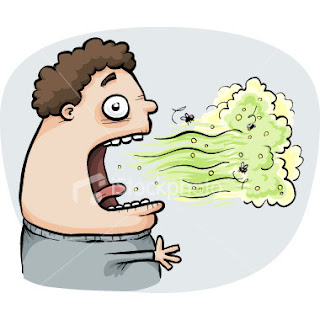 Bruce Banner, aka the Incredible Hulk has a really bad breath!
