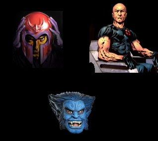 Magneto, Charles Xavier and the Beast