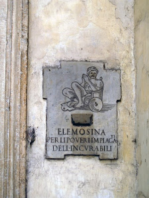 Alms slot at St Giacomo in Augusto