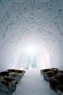 Un hotel con ambientes de hielo
