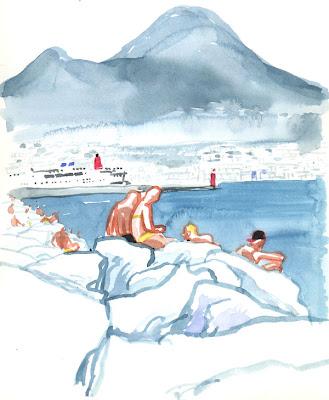Napoli vista da Enrique, pittore spagnolo