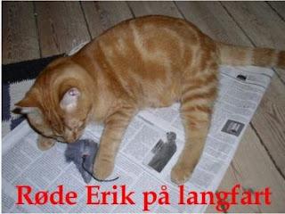 Røde Erik på avisen med et indlæg, hvor han måtte hentes i Sandhomlejren!