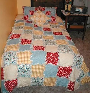 finished rag quilt