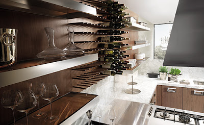 I Am A Big Fan Of Open Shelves In Kitchens. Love The Stainless Banded  Shelves Shown Here.