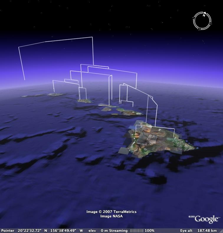 Google Earth Phylogeny screenshot