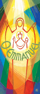 O Emmanuel, banner from Turvey Abbey