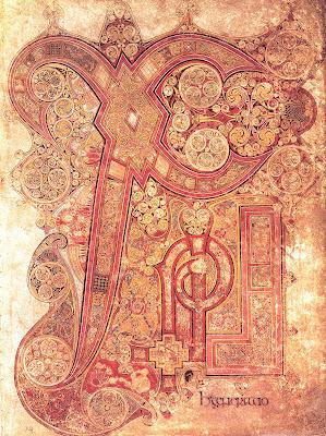 O livro de Kells - ano 800 d.C.