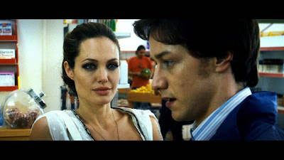 Angelina Jolie and James McAvoyin Wanted