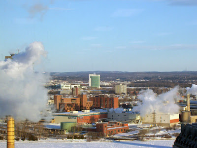 The Casino Lac Lemay and Hull between the smoke