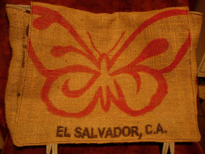 coffee sack butterfly bag