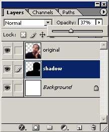 Membuat efek bayangan secara manual pada photoshop 4