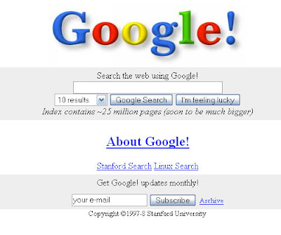 Google on Nov 11, 1998