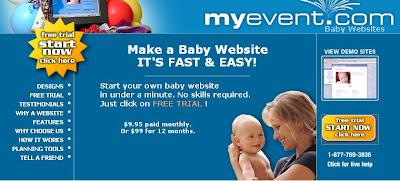 Free Baby Website Baby.Myevent.Com