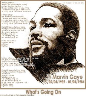 Marvin Gaye – What's going on / Que esta pasando | Temazos Traducidos