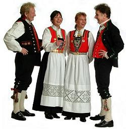 Norwegian traditional gowns