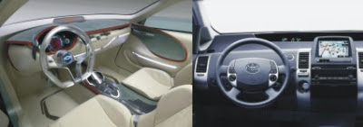 Carros Híbridos - Protótipo do interior