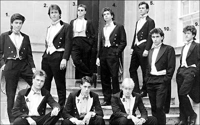 David Cameron in the Bullingdon Club