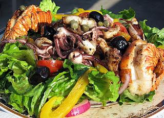 Warm Grilled Calamari & Prawn Salad - KALOFAGAS | GREEK ...