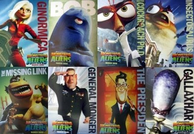 Monsters vs Aliens Characters and Cast  Teaser Trailer
