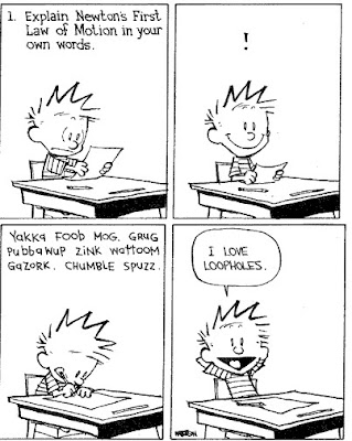 Calvin writing test