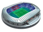 Papercraft imprimible y armable del Nissan Stadium. Manualidades a Raudales.