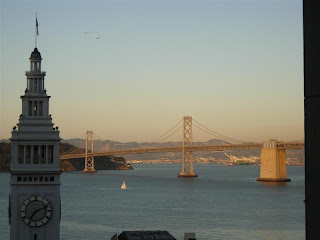 Hyatt Regency San Francisco room view of Bay Bridge
