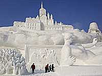 A View of Harbin Ice and Snow Festival (enhanced)