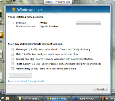 Resize the Taskbar thumbnail preview in Windows vista