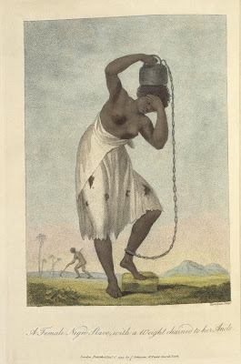 Female Negro Slave with a Weight chained to her Ankle