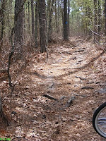 Rough uphill bike trail portion at Sesqui Park Columbia