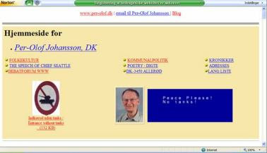per-olof.dk hjemmeside hos Geocities