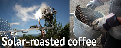 Solar-roasted coffee