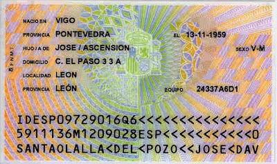 Leyenda urbana sobre el DNI (Documento Nacional de Identidad) (1/3)
