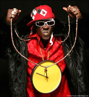 Flavor Flav...I cant believe you let that lady borrow your necklace!