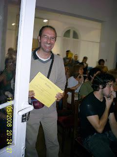 Sergio Gallo en la entrega de diplomas