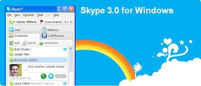 Skype 3.0 for Windows released