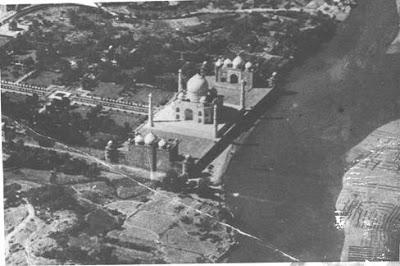 Aerial view of the Great Taj Mahal